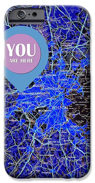 Boston  Massachusetts 1948 You Are Here IPhone Case by Pablo Franchi