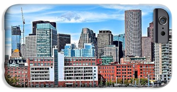 Boston Panoramic City View IPhone Case by Frozen in Time Fine Art Photography