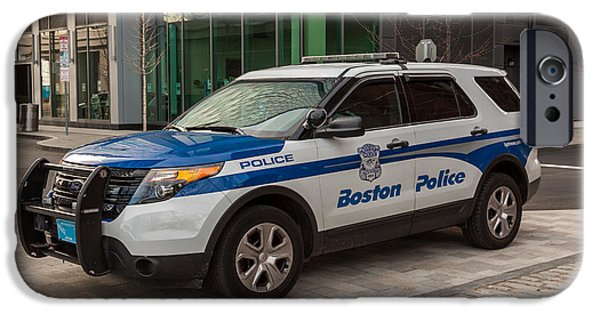 Boston Police Car IPhone Case by Brian MacLean