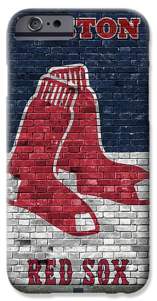 Boston Red Sox Brick Wall IPhone Case by Joe Hamilton