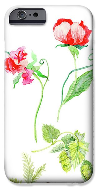 Botanical Nature - Spring Study 1 IPhone Case by Audrey Jeanne Roberts