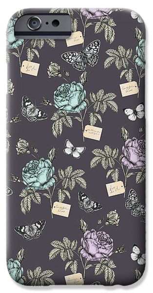 Botanical Roses IPhone Case by Stephanie Davies