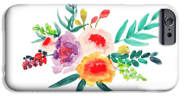 Bouquet Chic IPhone Case by Rasirote Buakeeree