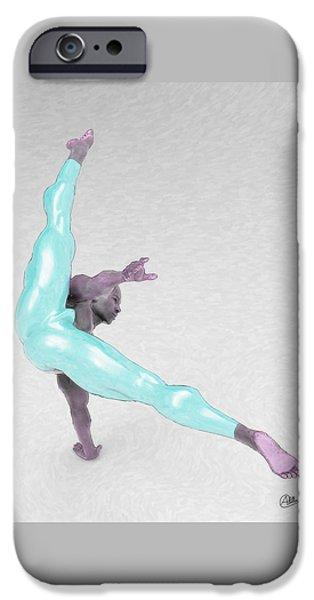 Boy Dancing Blue IPhone Case by Joaquin Abella
