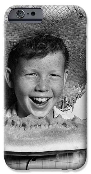 Boy Eating Watermelon, C.1940-50s IPhone 6s Case by H. Armstrong Roberts/ClassicStock