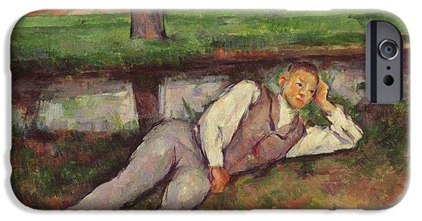 Boy Resting IPhone Case by Paul Cezanne