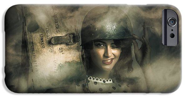 Brave Army Pinup IPhone Case by Jorgo Photography - Wall Art Gallery