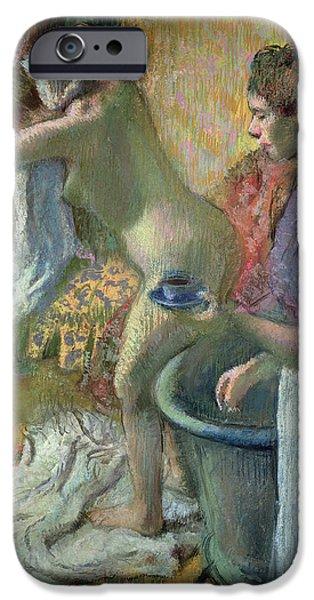 Breakfast After A Bath IPhone Case by Edgar Degas