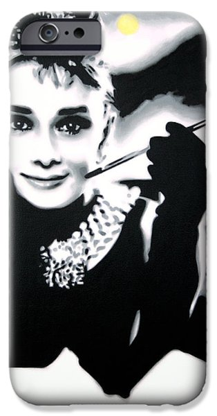 Breakfast At Tiffany's  IPhone Case by Luis Ludzska