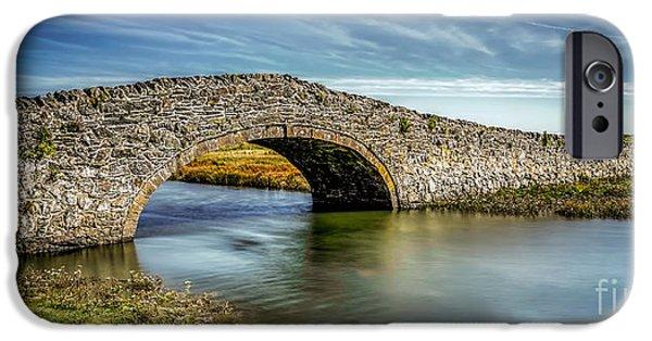 Bridge At Aberffraw IPhone Case by Adrian Evans
