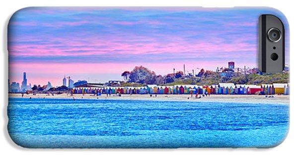 Brighton Beach Sunset IPhone Case by Az Jackson