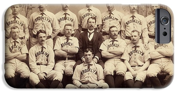 Brooklyn Bridegrooms Baseball Team IPhone Case by American School