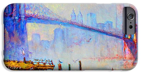 Brooklyn Bridge In A Foggy Morning IPhone 6s Case by Ylli Haruni