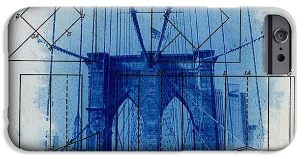 Brooklyn Bridge IPhone Case by Jane Linders