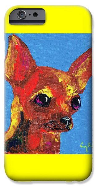 Brown Chihuahua IPhone Case by Corey C McNabb