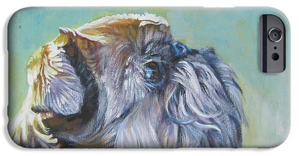 Brussels Griffon With Butterfly IPhone 6s Case by Lee Ann Shepard