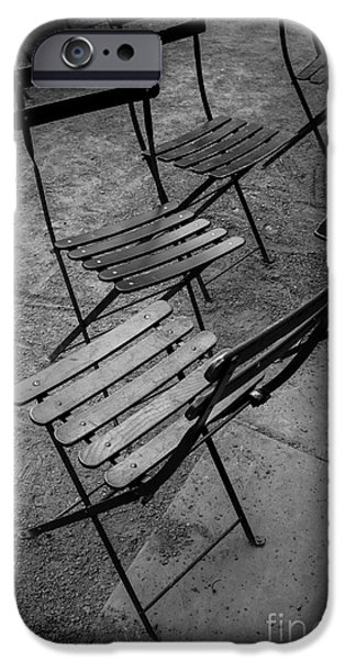 Bryant Park Chairs Nyc IPhone Case by Edward Fielding