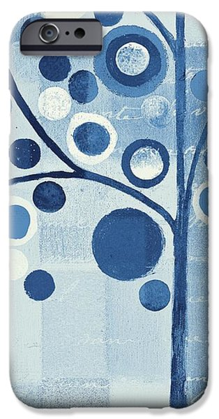 Bubble Tree - S290-01l - Blue IPhone Case by Variance Collections