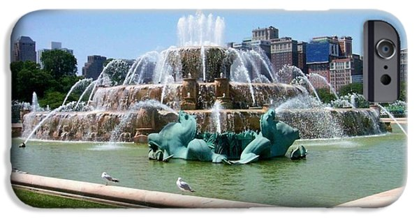 Buckingham Fountain IPhone Case by Anita Burgermeister