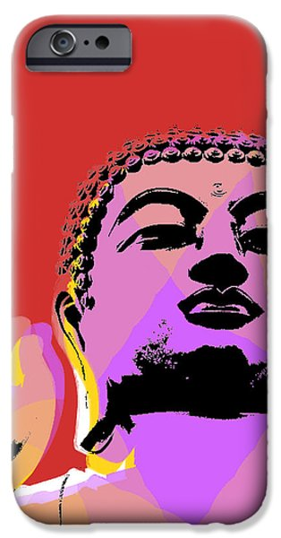 Buddha Pop Art  IPhone Case by Jean luc Comperat