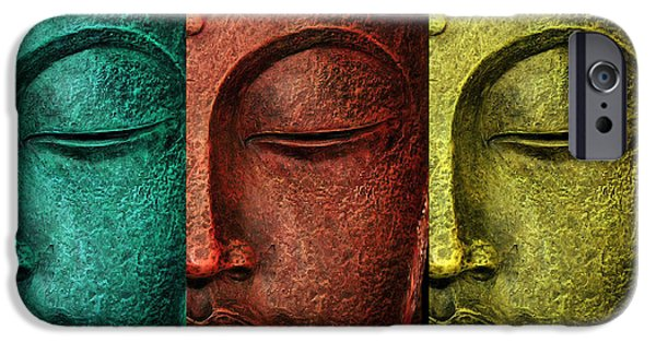 Buddha Statue IPhone Case by Mark Ashkenazi