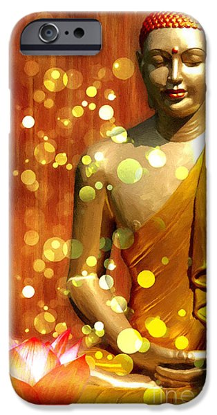 Buddha Synthesis IPhone Case by Khalil Houri