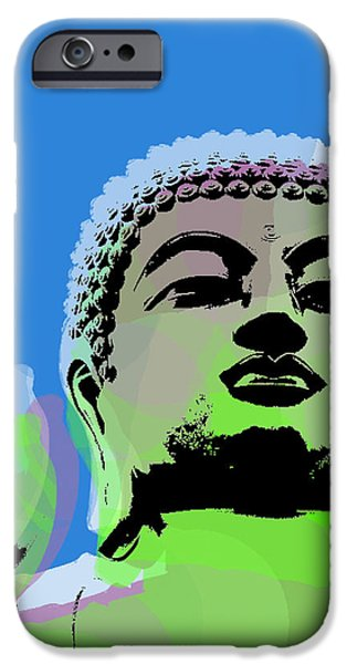 Buddha Warhol Style IPhone Case by Jean luc Comperat