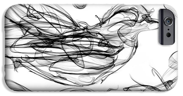 Building Her Nest IPhone Case by Abstract Angel Artist Stephen K