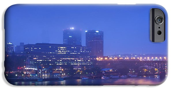 Buildings At The Riverside Lit IPhone Case by Panoramic Images