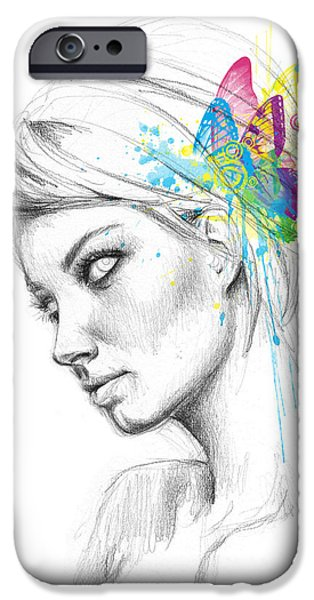 Butterfly Queen IPhone Case by Olga Shvartsur