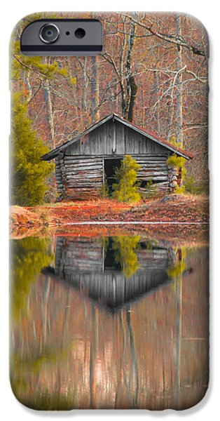 Cabin By The Lake Vertical IPhone Case by Shelby  Young