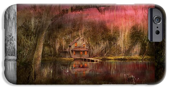 Cabin - De Land Fl - Restless Night - Summer Cottage 1904 - Side By Side IPhone Case by Mike Savad