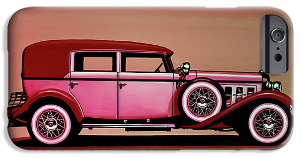 Cadillac V16 Mixed Media IPhone Case by Paul Meijering