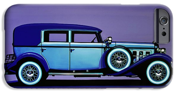 Cadillac V16 1930 Painting IPhone Case by Paul Meijering