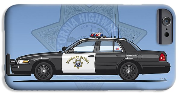 California Highway Patrol Ford Crown Victoria Police Interceptor IPhone 6s Case by Monkey Crisis On Mars