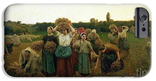 Calling In The Gleaners IPhone Case by Jules Breton