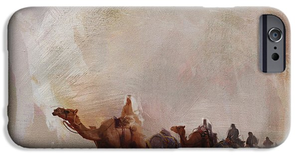 Camels And Desert 15 IPhone Case by Mahnoor Shah
