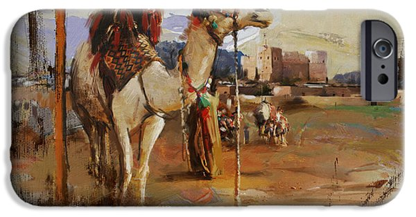 Camels And Desert 25 IPhone Case by Mahnoor Shah