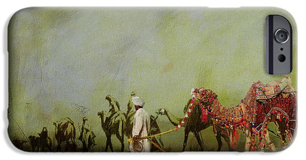Camels And Desert 3 IPhone Case by Mahnoor Shah