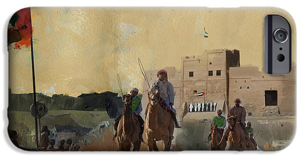 Camels And Desert 31 IPhone Case by Mahnoor Shah