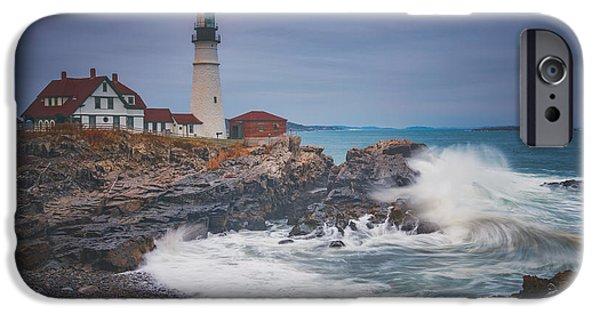 Cape Elizabeth Storm IPhone Case by Darren White