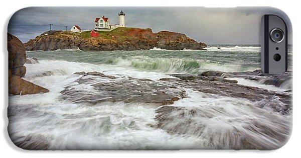 Cape Neddick Storm IPhone Case by Rick Berk