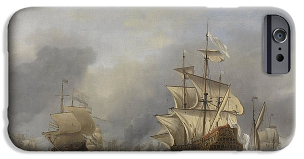Capture Of The Royal Prince IPhone Case by Willem Van De Velde The Younger
