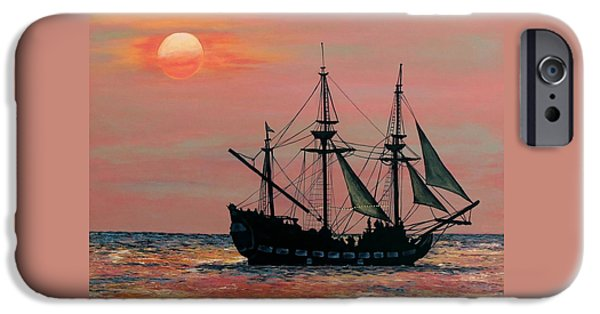 Caribbean Pirate Ship IPhone Case by Susan DeLain
