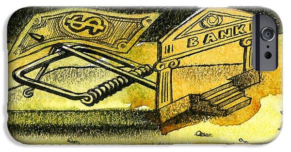 Cash Catch IPhone Case by Leon Zernitsky