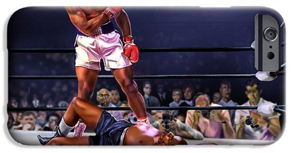 Cassius Clay Vs Sonny Liston IPhone Case by Reggie Duffie