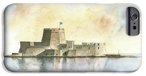 Castle Of Bourtzi In Nafplio IPhone 6s Case by Juan Bosco