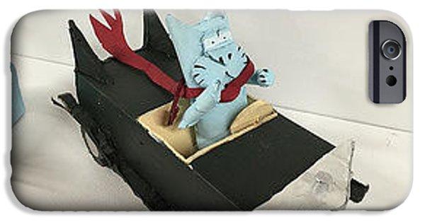 Bill Cat In Car IPhone Case by William Douglas