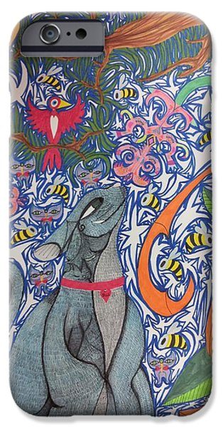 Cat Smelling A Flower 3 IPhone Case by William Douglas