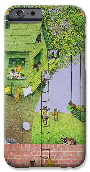 Cat Tree House IPhone Case by Pat Scott